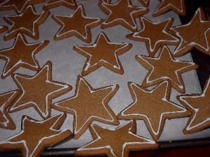 ginger shortbread stars